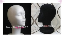 Female Foam Mannequin Display Foam Female Mannequin Head Black And White For Hat,Hair,Headset,Microphone Display