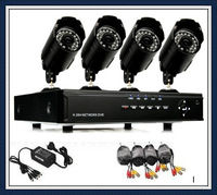 Free shipping 600TVL Waterproof cam Home 4CH CCTV DVR Day Night Weatherproof Security Camera Surveillance Video System