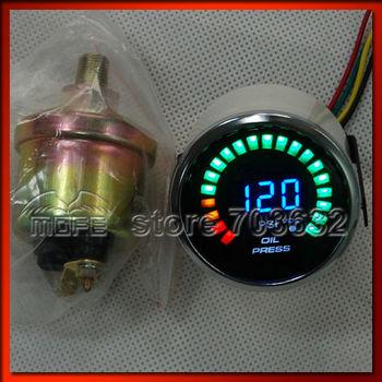 """Original Logo 20PCS Analog LED 52mm 2"""" 20 Digital PSI Oil Pressure Gauge for Car With Sensor"""