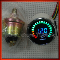 "Original Logo 20PCS Analog LED 52mm 2"" 20 Digital PSI Oil Pressure Gauge for Car With Sensor"