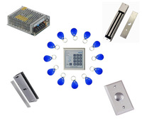 Free ship by DHL ,access control kit ,one EM keypad access control+power+magnetic lock +U bracket+button+10 em card,sn:em-005