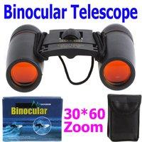 Promotions !  30X60 Zoom Mini Binoculars Telescope Folding Day 126m/1000m, Free Shipping Wholesale