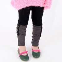 15042 Wool Lycra Stitching  Girls Leggings Children Casual Trousers Girls Trousers  3-7 Years 5 Pcs/1 Lot
