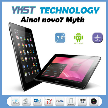"Amazing Display 7"" IPS 1280*800 Quad Core 1.5GHz 1G/16G Ainol Novo7 Venus Myth Android 4.1 WIFI 3G External HDMI Brand Tablet PC"