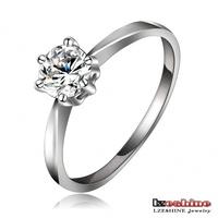LZESHINE Brand Cheap Wholesale Wedding Jewelry Platinum Plate Austrian Crystal SWA Element Crystal Ring FreeShipping Ri-HQ1092-B