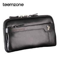 Teemzone Hot Fashion business men handbag 100% First layer of cow skin genuine leather casual man day clutch bag 3216