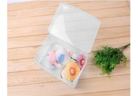 Free shipping 12pieces/lot cover clear plastic shoe storage boxes FOLDABLE shoe box lady's size 25x15x10cm