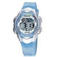 Original Ohsen digital Sports watch Wristwatch children boy diving dual time display silicone band fashion designer hand watches