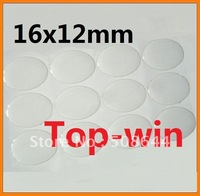 wholesale 100pcs 16x12mm oval shaped clear epoxy sticker for pendant jewelry free shipping topwin
