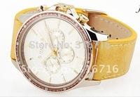 Hot Selling Brand JULIUS Men WristWatch, 3 Eyes Calendar Quartz Round Waterproof Casual Leather Watchbrand,Authentic JAH-021