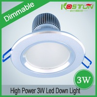 Dimmable 3W LED downlight, led lamp, high power led lighting+Free shipping 2 years Warranty