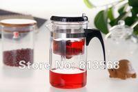 Hot Sale!!! 500ml glass teapot with original packing box, glass office tea kettle, Integrative and Convenient design tea pot
