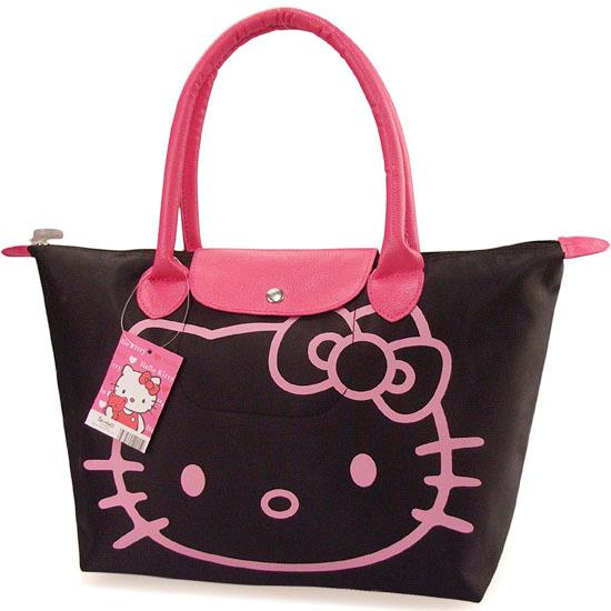 2012Hotsale+Free Shipping,New Arrival Hello Kitty Bag /Shopping Bag/Hand BagBlack,Pnk,Red,Rose pink,1PCS(China (Mainland))