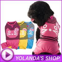 "Free Shipping ! WAGETON Fashion Pet clothes ""Striped cat""  Wholesale and Retail designer dog apparel -3 colors"