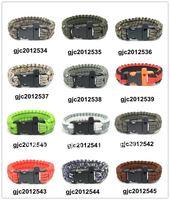 550 Paracord Parachute Cord Lanyard Survival Bracelet