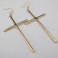 Vintage gold silver cross  2013 new fashion drop earrings for women E052
