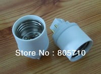 G24Q-3 to E26, GX24q-3 to E26/4PIN,Lamp base converter, E26 Lamp Holder to GX24Q-3 Lamp Base,15 pieces/lot