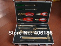Non sparking combination tools set-18pcs, aluminium bronze explosion safety tool boxes,hand tool cases