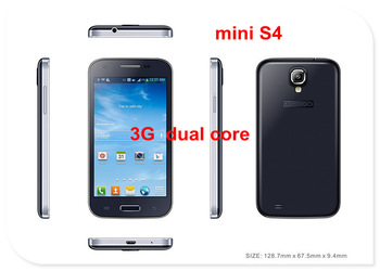 2013 mini S4 4.3inch I9500 WCDMA 3G dual core smart cell phones Feiteng A7100 mini N7100 android 4.0 dual sim mobile phone