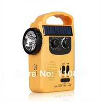 Solar radio, hand crank flashlight, outdoor supplies, household emergency lights, manual mobile phone charger, alarm