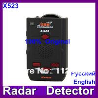 100% Original Conqueror x523 Super Advanced Car Radar Detector with Russian voice update of x323 KA-PLUS and super signal x-523