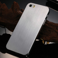 0.3mm Brushed Aluminum Hard case for iphone 5 5S 5G Luxury Thin Back Metal cover,  made of  100% Full Titanium NO Plastic YOTONE