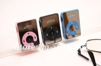 NEW ARRIVAL,free shipping Mini Clip Mp3 Player/sport Mirror Mp3/TF card support.(this item without eaphone, usb cable,TF card)