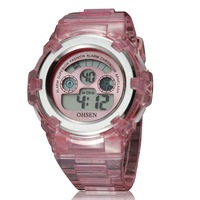 NEW Ohsen Sport watch Wristwatches kids girls digital dive silicone cute pink watches for child gift free shipping