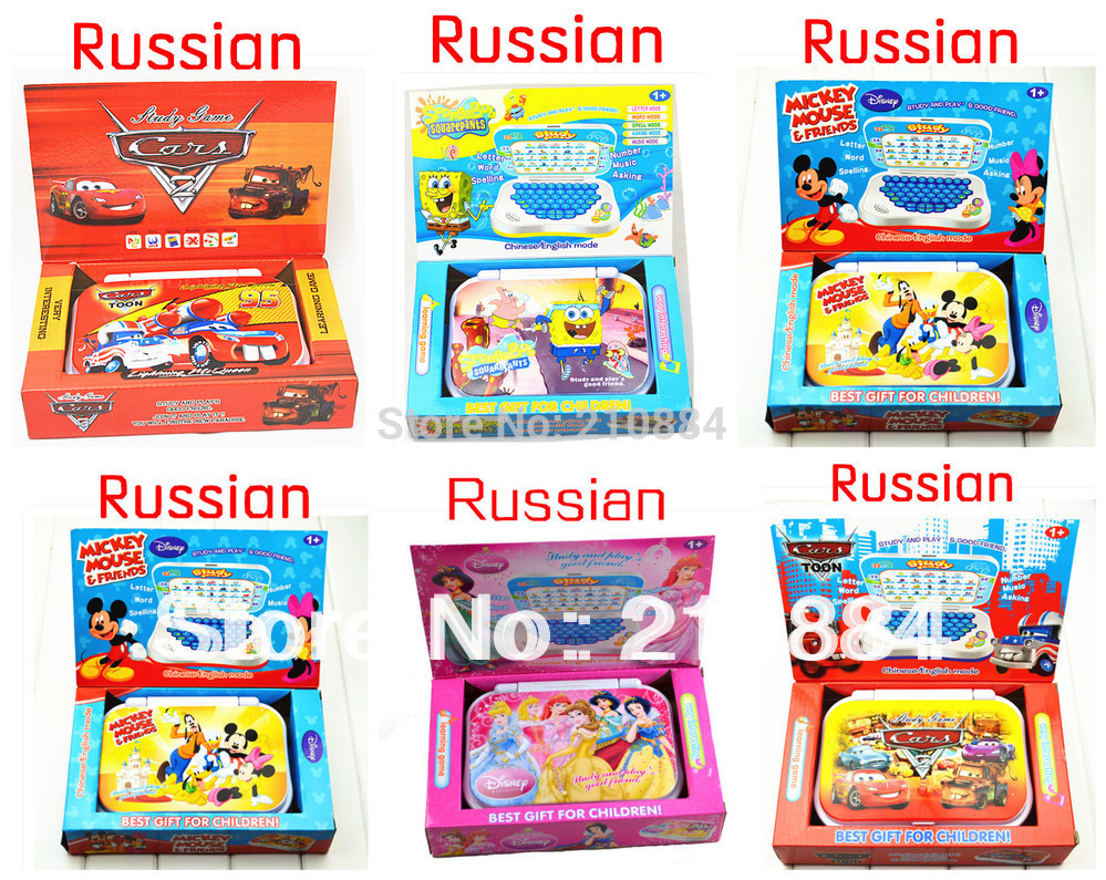 Russian Language learning Machine Children's tablet computer Table Farm Funny Educational toy For Kid's 1PCS Free shipping(China (Mainland))