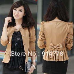 Free Shipping 2012 autumn fashion blazer women 's outerwear autumn short jacket women fashion coat jacket 3 colors(China (Mainland))