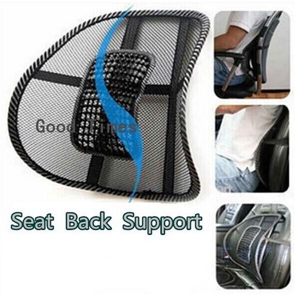 Free Shipping New Car Seat Chair Massage Back Lumbar Support Mesh Ventilate Cushion Pad Black,Mesh Back Lumbar Cushion #1511(China (Mainland))