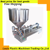 Free Shipping liquid or paste filling machine, pneumatic, semi filler, single head  with Cylinder, piston