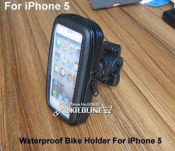 Waterproof Bike holder Bicycle Handlebar Mount Holder Stand Waterproof Case For Apple iPhone 5 5C 5S