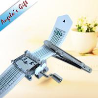 DIY music box 15 notes Hand crank Paper Strip Music box, unusual gifts, wedding gift, birthday gift