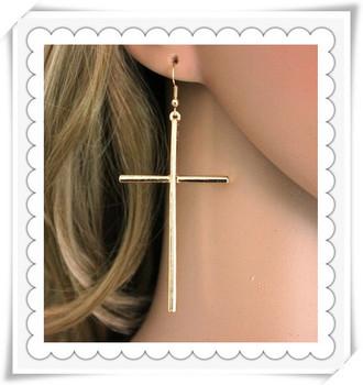 New fashion jewelry cross drop earring gift for women girl  E585