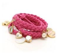 Free Shipping 20PCS/LOT Multicolor Knit Shell Heart Rabbit Fashion Bracelet