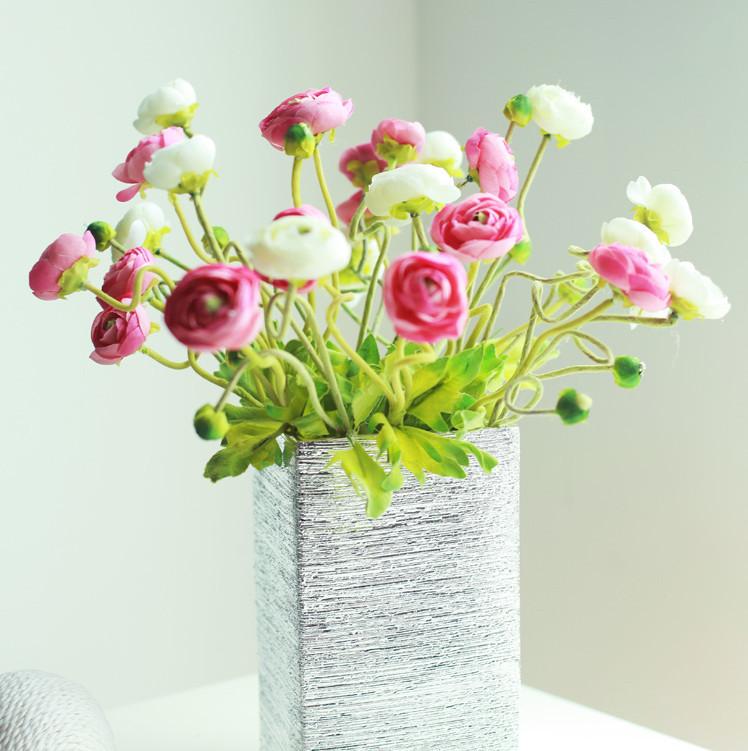 Chinese Tea Bud Silk Rose Decoration Artificial Flowers Wedding Flower
