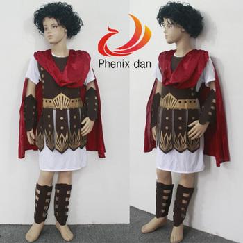 Kids Children Boys Fancy Dress Roman Brave Warrior Soldier Gladiator Arm Guard Cosplay Costume Halloween Makeup Party S/M