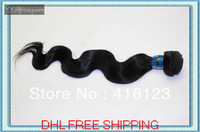 16'' 18'' 20'' 22'' Brazillian Virgin Hair Body Wave Mix Length 3pcs Lot DHL Free Shipping