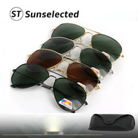 Freedropshipping Classic Aviator Glasses Fit  Polarized Lens Sunglasses Brand Designer Women&Men Cool Sports Eyewear PR16