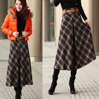 DISCOUNT RETIAL Cotton Vintage Plaid  Plus Size Half-length Women Skirt New Fashion 2013 Spring ladies Skirts