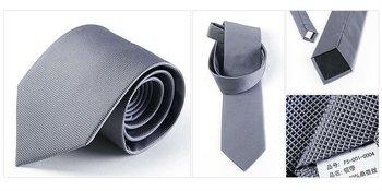 Freeshipping four seasons coffee gray man men male gentleman business or wedding Korean version solid silk tie ties FS-001-LD