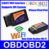 Super Functional ELM327 Wireless OBDII WIFI Connection Auto Code Diagnostic  ELM 327 WIi-Fi For iOS SmartPhone Free Shipping CNP