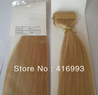 """20"""" 22'' 24# Natural Blonde Color PU Tape Hair Glue Skin Weft Hair Extensions Human Indian Remy Hair  2.5g/pc  40pcs/lot"""