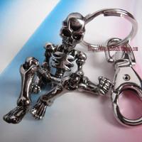 skeleton keychain for women female novelty items cool skull key ring for men souvenir christmas gift promotional keychain