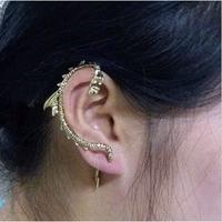 #065 Wholesael Gothic Punk Style Dragon Ear Cuff Earrings Free Shipping 24pcs/lot