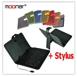 "Colourful Woven Pattern 7"" MK Keyboard Smart Cover Case For 7 inch Tablet PC With Micro USB Keyboard Stylus Pen DA0170 -75(China (Mainland))"