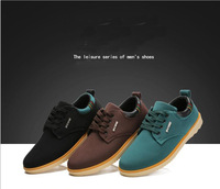 Free Shipping 2014 New Arriver The Fashion Design Leather Causal Shoes Men Flats Sneakers For Men Eur Size 39-44 3Colors