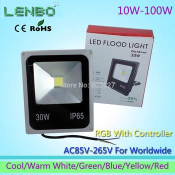 GLW Outdoor 10W 20W 30W 50W 100W LED  Flood Light  110V 220V 240V White Warm White Seven Color  9000LM floodlight  Lights LW4