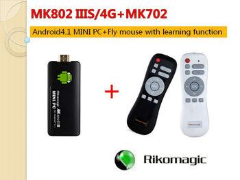 Rikomagic MK802 IIIS Mini Android 4.1 PC Android Set top box RK3066Cortex A9 1GB RAM 4G ROM HDMI TF Card [MK802-IIIS/4G+MK702]